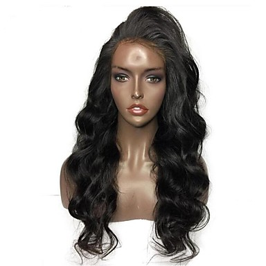 Remy Human Hair Unprocessed Human Hair Glueless Full Lace Full Lace Wig Brazilian Hair Wavy Body Wave Wig 130% 150% 180% Density with Baby Hair Natural Hairline African American Wig 100% Hand Tied