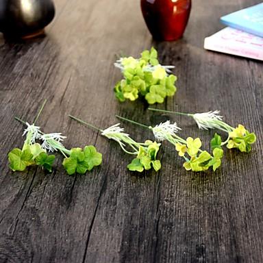 10 Ast Seide Polyester Pflanzen Tisch-Blumen Künstliche Blumen