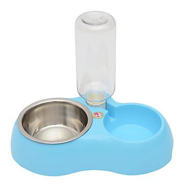 Umorismo Gatto Cane Ciotole & Bottiglie Animali Domestici Ciotole E Alimentazione Blu Rosa #06166656