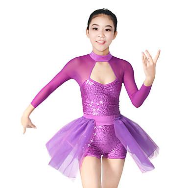 Baletti Asusteet Naisten Lasten Suoritus Elastaani Polyesteri Organza Paljettipintainen Laskostettu sivulta Liitos 2 osainen Pitkä hiha
