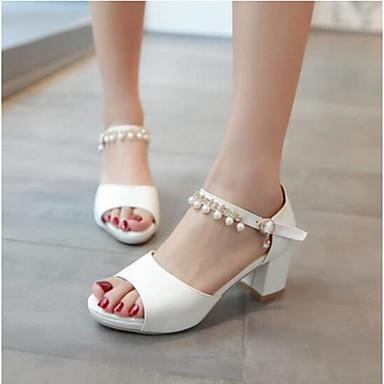Damen Sandalen Komfort Sommer PU Normal Weiß Blau Rosa 2,5 - 4,5 cm