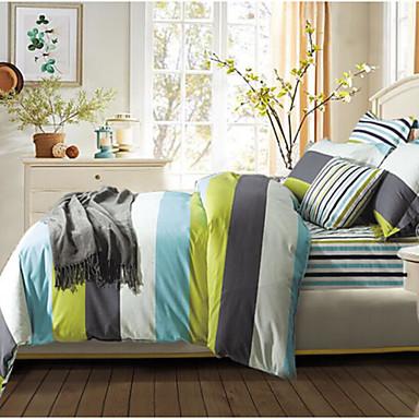 Schottenstoff/Kariert 4 Stück Baumwolle Baumwolle 1 Stk. Bettdeckenbezug 2 Stk. Kissenbezüge 1 Stk. Spannbetttuch