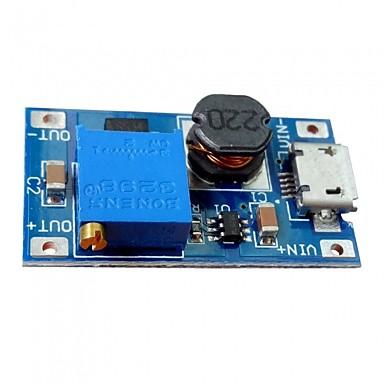 Dc-dc 2a állítható löket modul micro usb dc áramköri lap