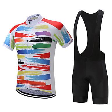 FUALRNY® Kerékpáros dzsörzé kantáros nadrággal Férfi Rövid ujjú Bike Ruházati kollekciók Kerékpáros ruházat Gyors szárítás Párásodás