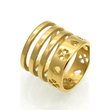 Női Band Ring - Circle Shape Vintage / Divat / Elegáns Arany / Titán Gyűrű Kompatibilitás Esküvő / Eljegyzés / Napi