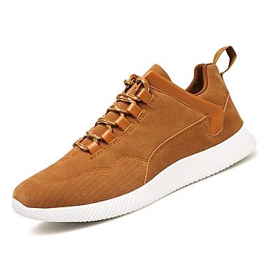 Men's Pigskin Summer / Fall Comfort Sneakers Black / Gray / Brown