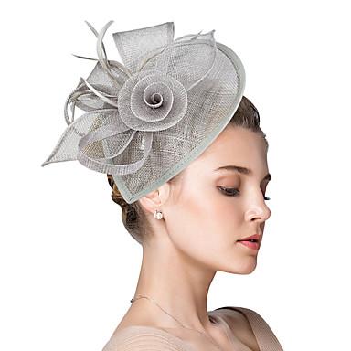 abordables Coiffes-Plastique Fascinators / Fleurs / Coiffure avec Fleur 1pc Mariage / Occasion spéciale / Fête / Soirée Casque