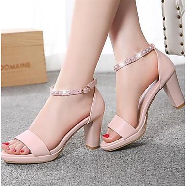Damen Schuhe Künstliche Mikrofaser Polyurethan Sommer Komfort Sandalen Für Normal Weiß Schwarz Rosa