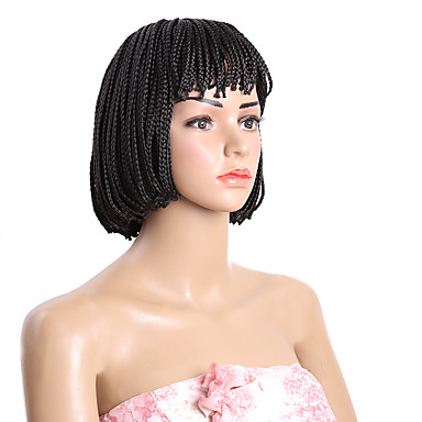 Synthetic Wig Style Bob Capless Wig Brown Natural Black Synthetic Hair Wig Short Natural Wigs