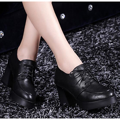 Damen Schuhe Echtes Leder PU Winter Komfort Pumps Stiefel für Normal Schwarz