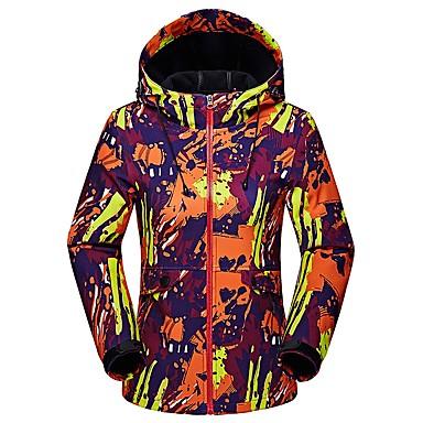 LEIBINDI Women's Hiking Softshell Jacket outdoor Fall Winter Keep Warm Thermal / Warm Breathable Hiking Jackets Camping & Hiking Apparel & Accessories Activewear Chinlon Jacket Top Camping / Hiking