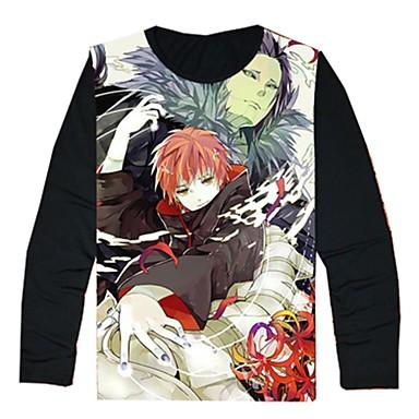 Inspiriert von Naruto Cosplay Anime Cosplay Kostüme Cosplay-T-Shirt Cartoon Design Langarm Top Für Herrn Damen