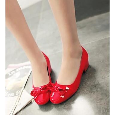 Damen Schuhe PU Sommer Komfort High Heels Für Normal Rot Rosa Mandelfarben
