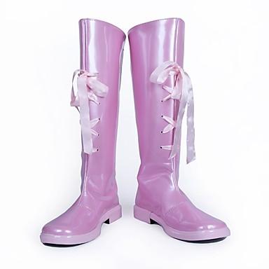 Cosplay أحذية تأثيري أحذية من المراقبة من جانب الكوسبلاي أنيمي Cosplay أحذية جلد PU جلد البولي يوريثان للبالغين للجنسين