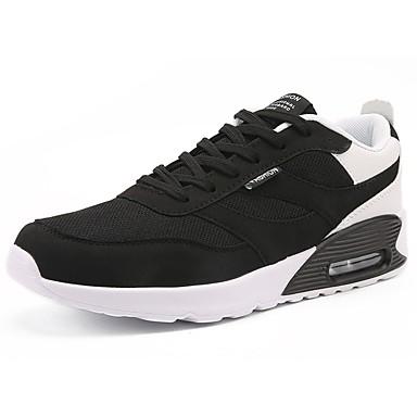 للرجال شبكة ربيع / خريف مريح أحذية رياضية المشي أسود وأبيض / أسود / أحمر / أسود / أزرق