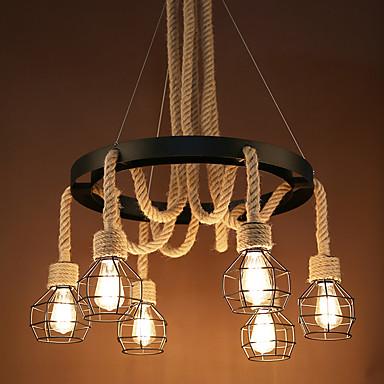 6-Light Pendant Light Downlight - Mini Style, Bulb Included, 110-120V / 220-240V, Warm White, Bulb Not Included / 5-10㎡ / E26 / E27