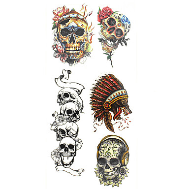 Pattern / Lower Back / Waterproof Hand / Arm / Wrist Temporary Tattoos 1 pcs Totem Series Body Arts