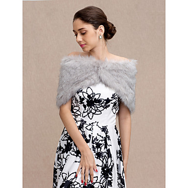 Faux Fur Wedding / Party / Evening Women's Wrap With Buttons Capelets