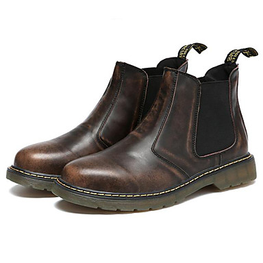 Men's Bootie Nappa Leather Fall / Winter Bootie / Combat Boots Boots Booties / Ankle Boots Black / Brown / Red