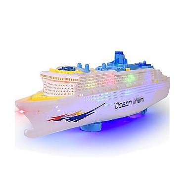 Toy Boat Model Building Kit Boat Ship Simulation Electric Plastics Kid's Gift