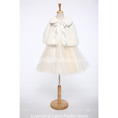 Faux Fur Wedding / Party / Evening Kids' Wraps With Lace-up Capelets