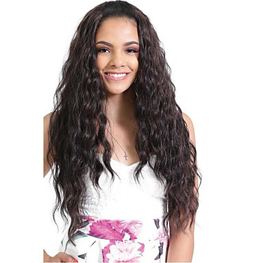 Remy Human Hair Glueless Lace Front / 360 Frontal / Lace Front Wig Brazilian Hair Wavy Wig With Baby Hair 150% / 180% Natural Hairline / 100% Hand Tied Women's Medium Length / Long Human Hair Lace Wig