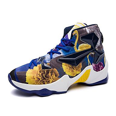 בגדי ריקוד גברים נעליים דמוי עור אביב / חורף נוחות נעלי ספורט כדורסל אדום / ירוק / כחול