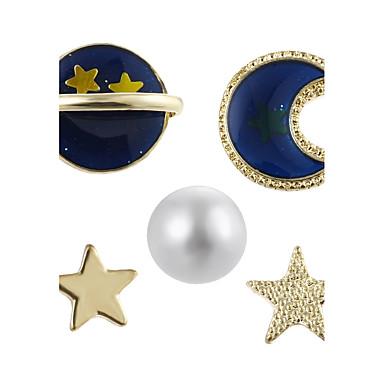 Női Beszúrós fülbevalók - Gyöngy Luxus, Geometrijski oblici Arany Kompatibilitás Parti Iskola
