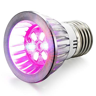 96-112 lm E14 / GU10 / E27 Voksende lyspære 6 LED perler SMD 5730 Rød / Blå 85-265 V / 1 stk. / RoHs / CCC