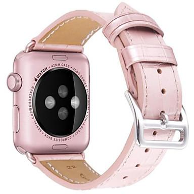 Nézd Band mert Apple Watch Series 4/3/2/1 Apple Hagyományos csat Valódi bőr Csuklópánt