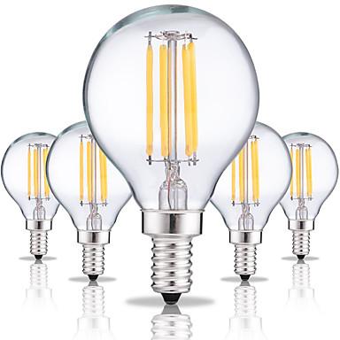 5pcs 4W 360lm E14 Izzószálas LED lámpák G45 4 LED gyöngyök COB Dekoratív Meleg fehér / Hideg fehér 220-240V