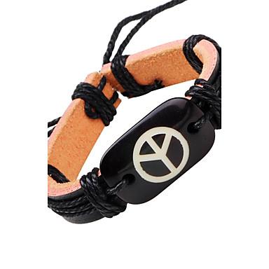Men's Leather Bracelet - Leather Bracelet Black For Casual Stage