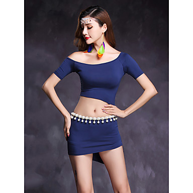 Belly Dance Outfits Women's Performance Modal Short Sleeves Natural Skirts / Top