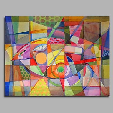 Hang festett olajfestmény Kézzel festett - Állatok Művészi Rajzfilmfigura Modern / kortárs Vászon