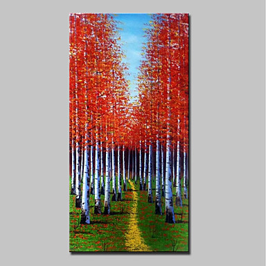 Hang festett olajfestmény Kézzel festett - Landscape Absztrakt Modern Vászon