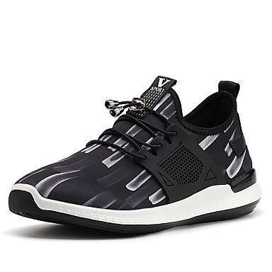 Férfi cipő PU Elasztikus szatén Tél Ősz Kényelmes Tornacipők Tépőzár Kombinált mert Hétköznapi Hivatal és karrier Fekete/fehér