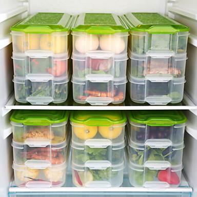 billige Hot Weather Alert!-1pc Matlager Plastikk Lett å Bruke Kjøkkenorganisasjon