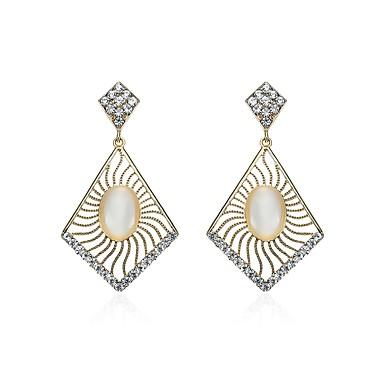 Női Szintetikus gyémánt Strassz Függők - Természet / Karácsony Arany Geometric Shape Fülbevaló Kompatibilitás Karácsony / Klub