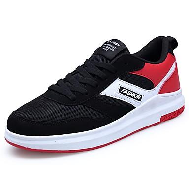 Férfi cipő Tüll Tavasz Ősz Kényelmes Tornacipők Fűző mert Sport Fekete/fehér Fekete/Vörös