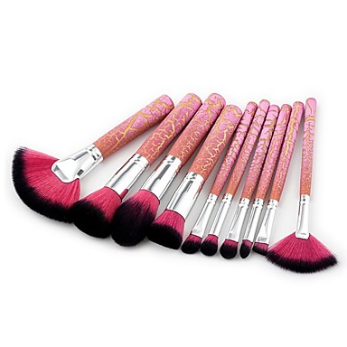 10pcs Makeup Brushes Professional Synthetic Hair Full Coverage / Synthetic Resin