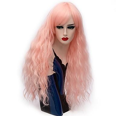 Jelmez parókák / Szintetikus parókák Mély hullám Szürke / Bíbor / Pink Női Sapka nélküli Halloween paróka Hosszú Szintetikus haj