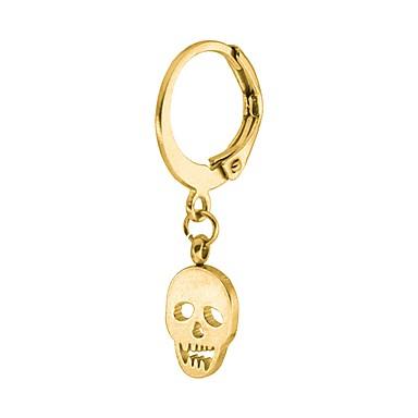 Men's / Women's Geometric Drop Earrings - Skull Vintage, Hip-Hop Gold / Black / Silver For Halloween / Casual