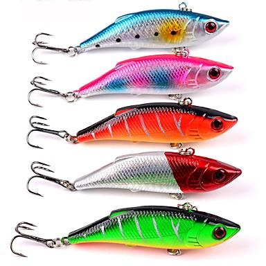 5 pcs Fishing Lures Hard Bait Plastic / ABS Sea Fishing / Lure Fishing / Trolling & Boat Fishing