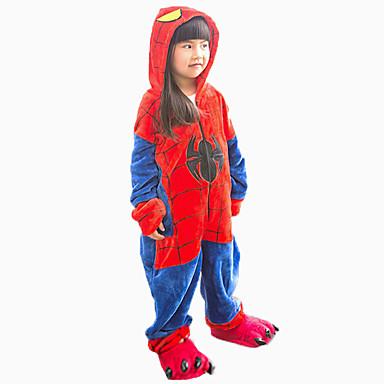 Kigurumi pizsama papuccsal Spider Onesie pizsama Jelmez Φανελένιο Ύφασμα Cosplay mert Gyermek Allati Hálóruházat Rajzfilm Halloween