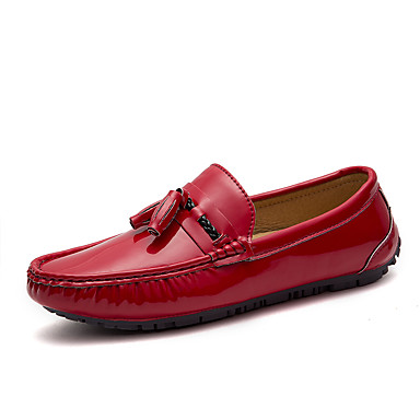 Férfi cipő Bőr Tél Ősz Búvárcipő Papucsok & Balerinacipők Rojt mert Hétköznapi Party és Estélyi Fehér Fekete Piros Kék