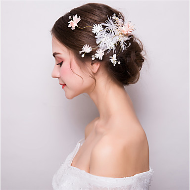 Fabric / Alloy Flowers / Hair Clip with 1 Wedding / Party / Evening Headpiece