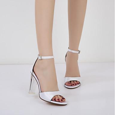 Chaussures chaussures Transparent Talon Cheville Sandales de Satin Printemps Eté Talon Escarpin Femme Basique 06294309 Bottier Bride RAdqwR