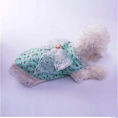 Dog Dress Dog Clothes Princess Red / Green Cotton Costume For Pets Summer Women's Casual / Daily