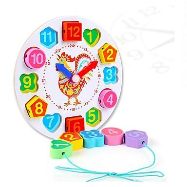 voordelige Rekenspeelgoed-Rekenspeelgoed Houten klok speelgoed Anti-stress Kip Klok DHZ Onderwijs Puinen 1 pcs Unisex Speeltjes Geschenk
