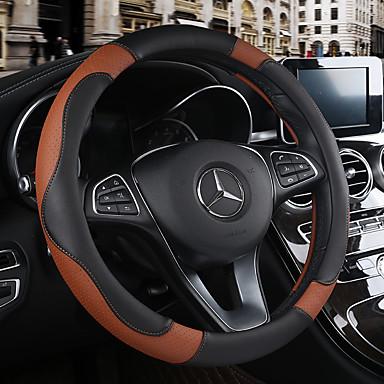رخيصةأون اكسسوارات السيارات الداخلية-أغطية إطارات القيادة جلد 38cm البيج / أسود-أسمر / أسود-أحمر من أجل Chevrole كل السنوات